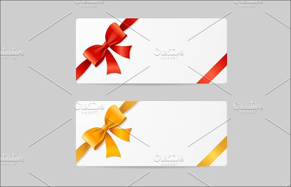 Gift Card Template with Ribbon