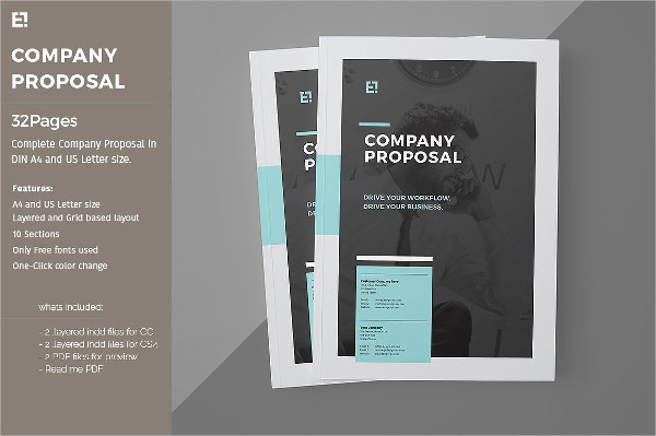 Attractive Company Proposal Template