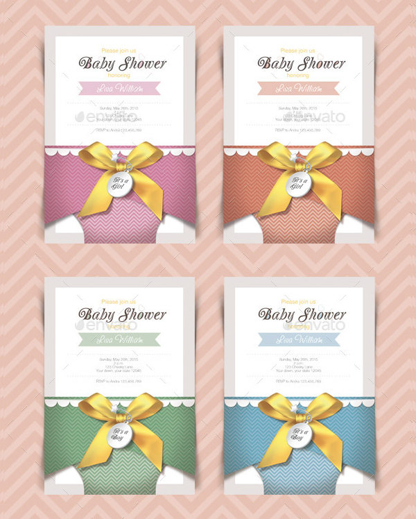 Set of Baby Shower Cards