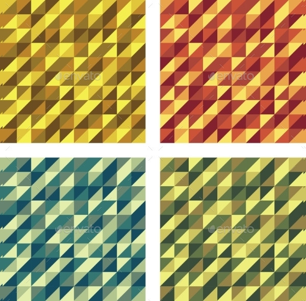 Set of Colorful Geometric Seamless Textures