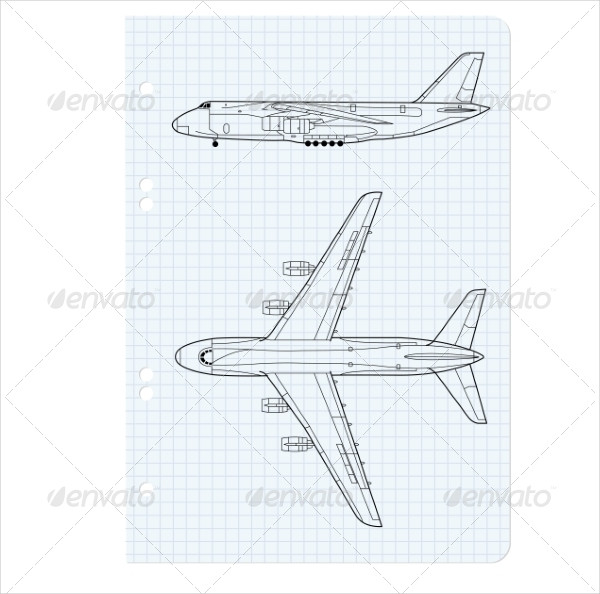 Simple Airplane Drawing
