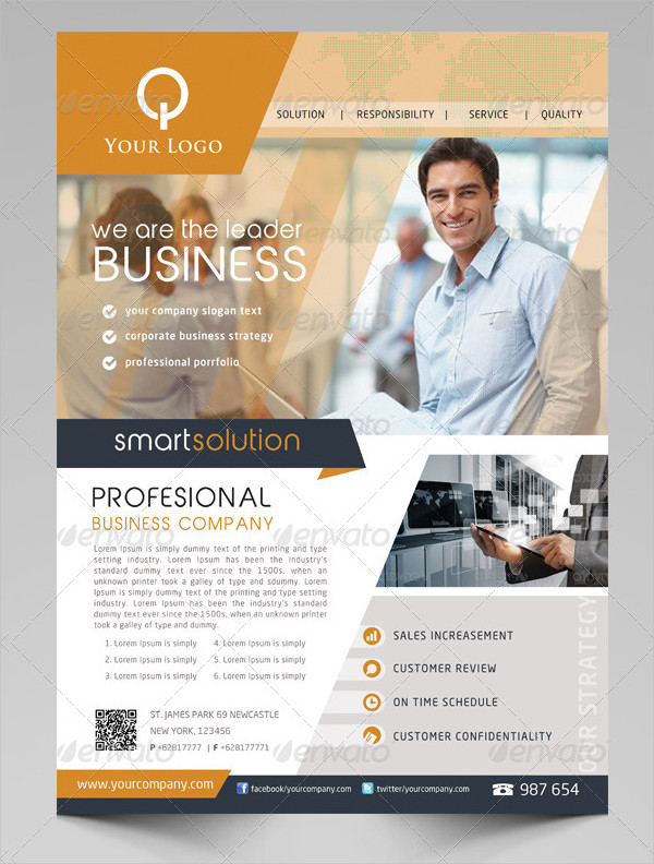 business solutions flyer template