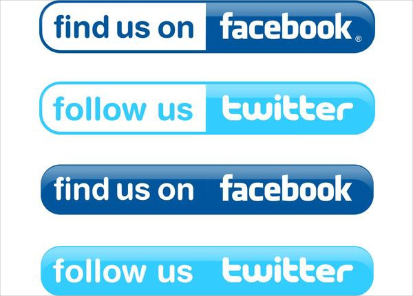 Simple Facebook And Twitter Buttons Free