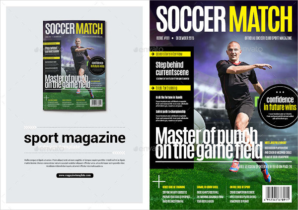 Soccer Sports Magazine Template