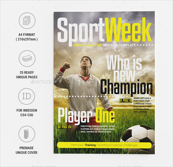 Sports Week Magazine Template