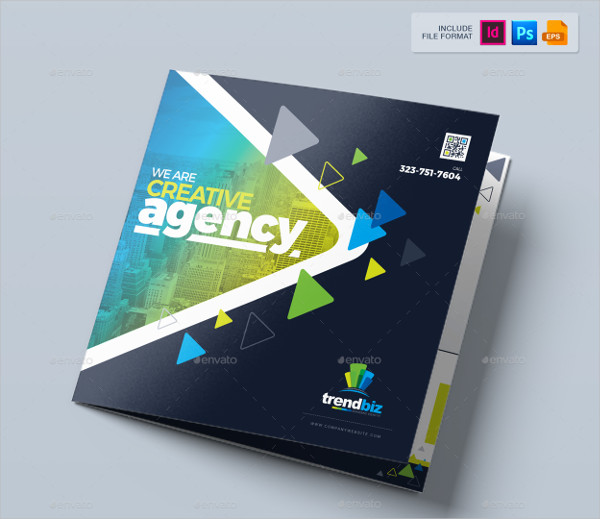Agency Square Trifold Brochure Design