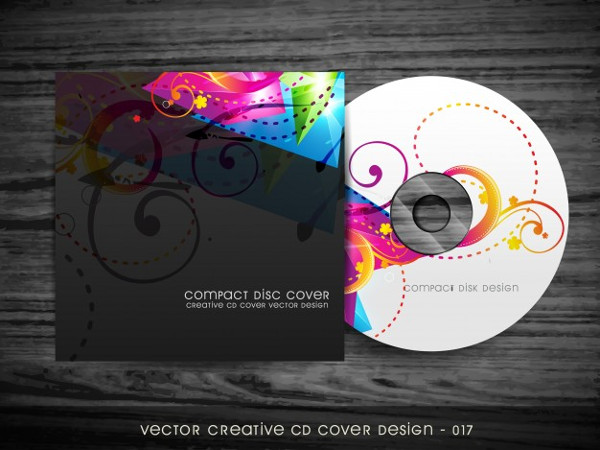 Stylish Colorful CD Cover Design Free
