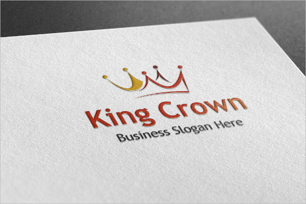 Stylish King Crown Style Logo Template