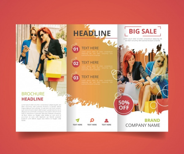Trifold Sales Brochure Template Free Vector
