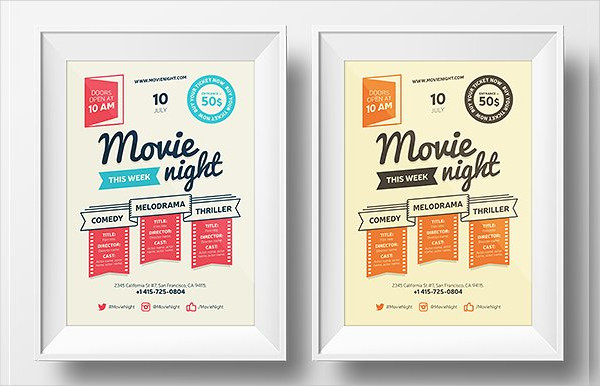 Ultimate Movie Night Poster Template