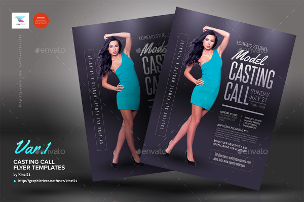 Unique Casting Call Flyer Templates