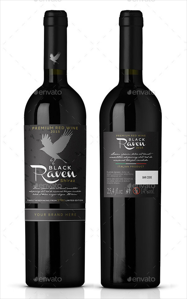 Unique Red Wine Label Template