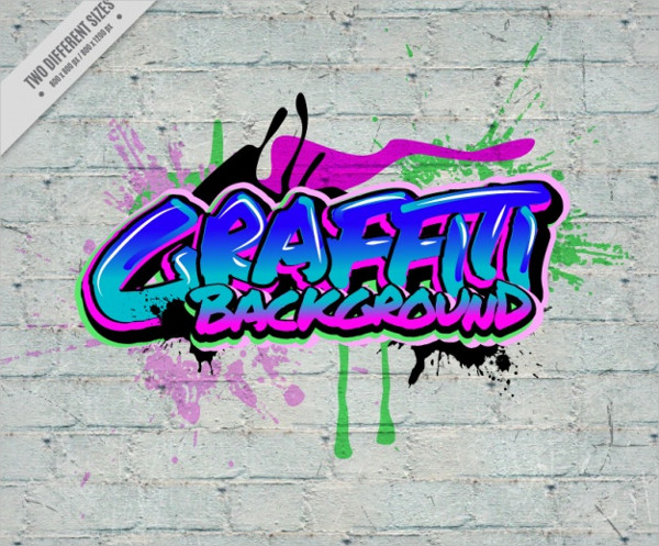 Urban Art Background Free Vector