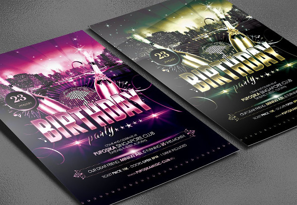 VIP Birthday Party Poster Template