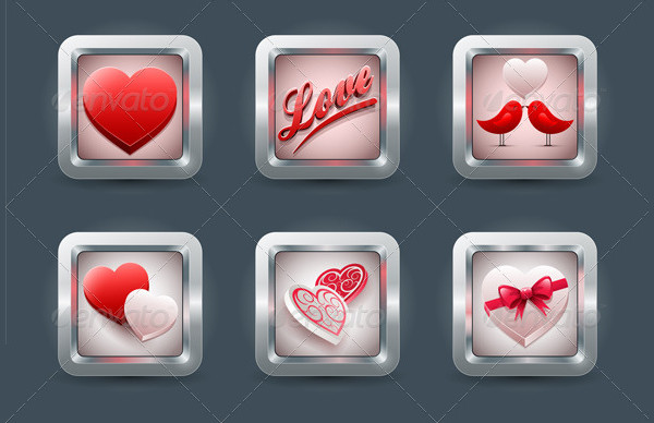 Valentine's Day Love Icon Collection