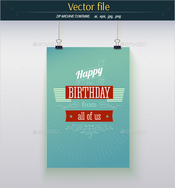 Best Happy Birthday Poster Template