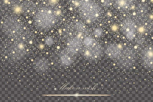 Vector Transparent Glitter Particles Background