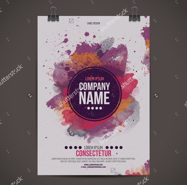 Vector Watercolor Poster Template