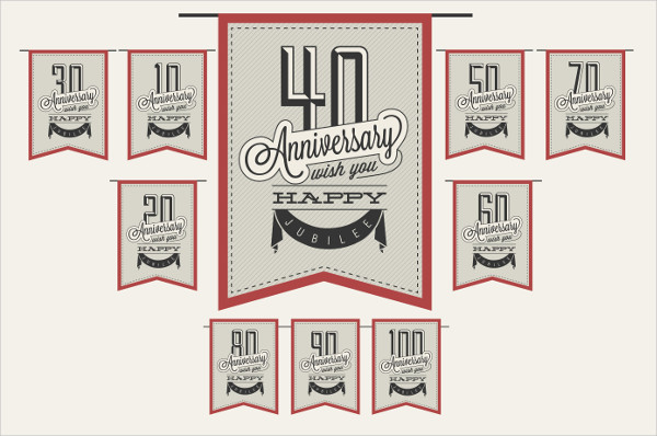 Vintage Anniversary Greeting Cards