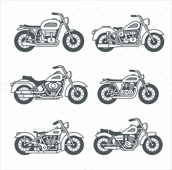 Vintage Motorcycle Icon Collection