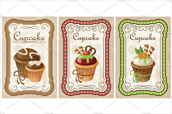 Vintage Poster Template with a Cake