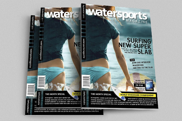 Water Sports Magazine Templates