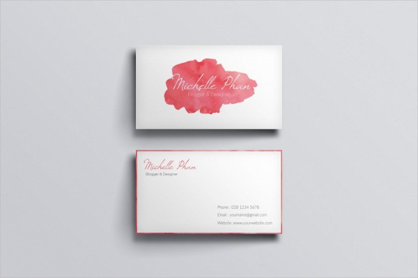 Watercolor Business Card Template