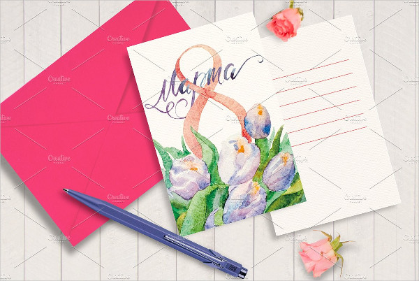Watercolor Women's Day Greeting Card