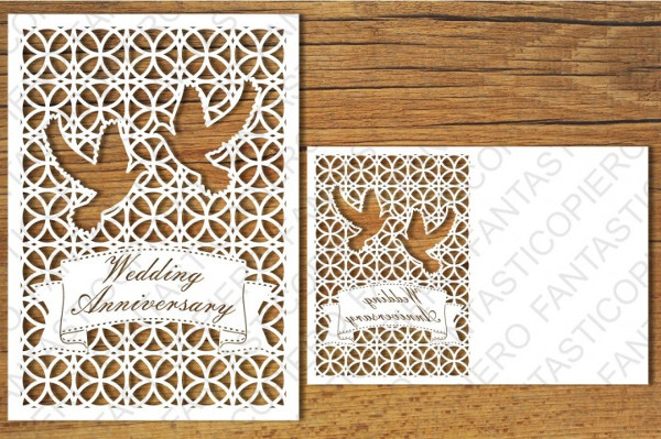Wedding Anniversary and Greeting Card Blank