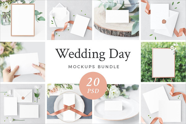 Wedding Day Mockups Bundle