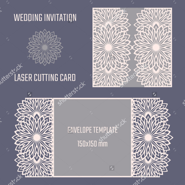 Wedding Die Cut Envelope Template
