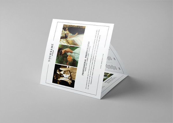 Square Wedding Photography Brochure Template