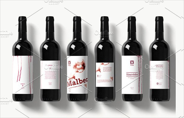 Wine Drip Label Design Templates