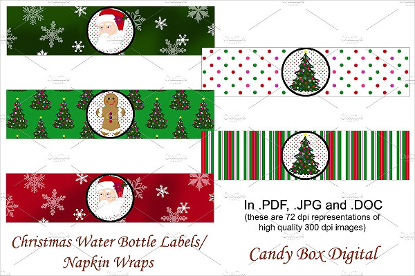 wrap candy templates - 23 water bottle label templates free premium download