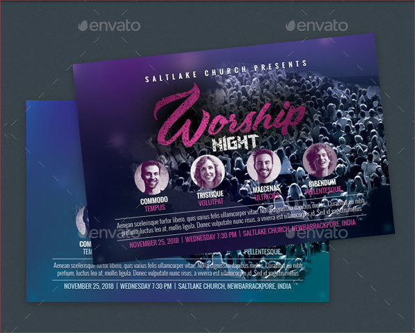 Worship Night Church Flyer Template