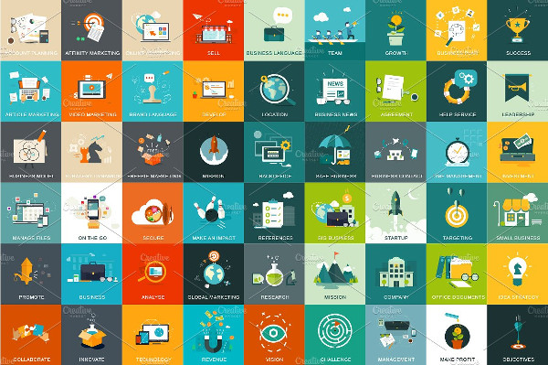 54 Business and Marketing Concept Icons