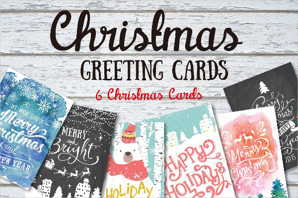 6 Christmas Greeting Card Templates