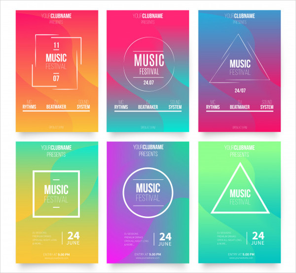 Abstract Music Poster Templates Free Download