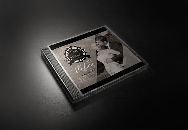 Wedding CD Cover PSD Template
