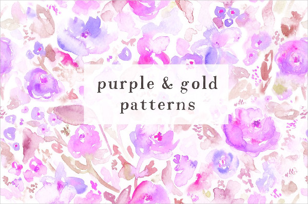 Attractive Floral Watercolor Patterns