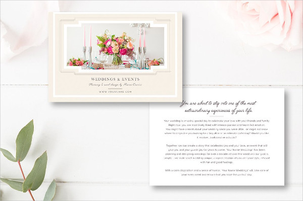 Awesome Design Wedding Planner Business Card