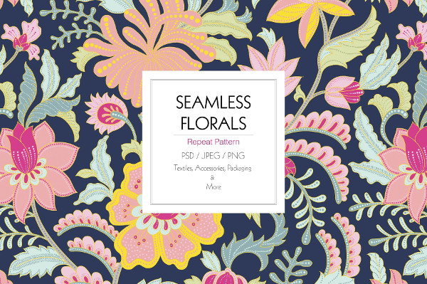 Awesome Seamless Floral Pattern