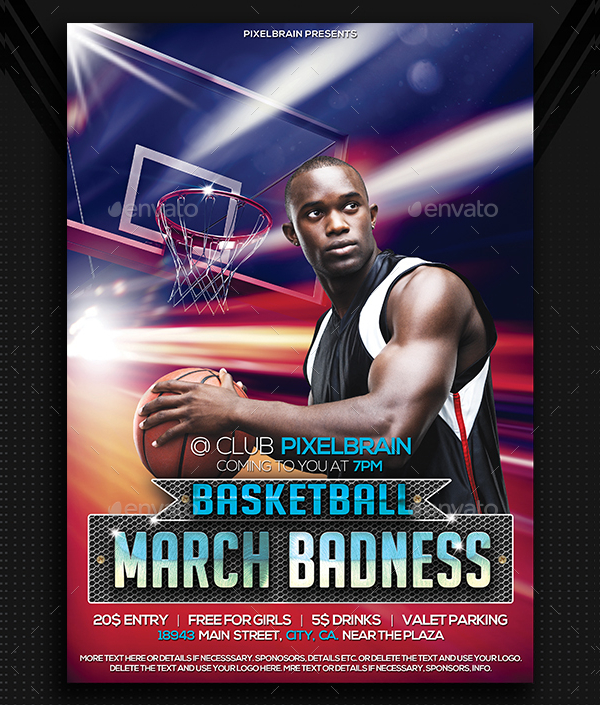 Basketball Event Poster Template