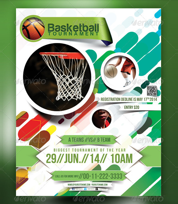 Attractive Basketball Poster Template