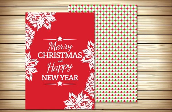 Beautiful Christmas Greeting Card Illustration Free