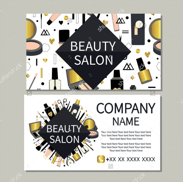 Cute Design Beauty Salon Business Card Template
