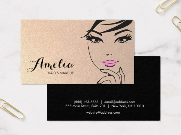 Beauty Salon & Spa Gold Business Card
