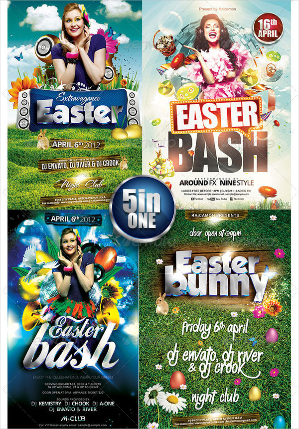 35  easter flyer templates