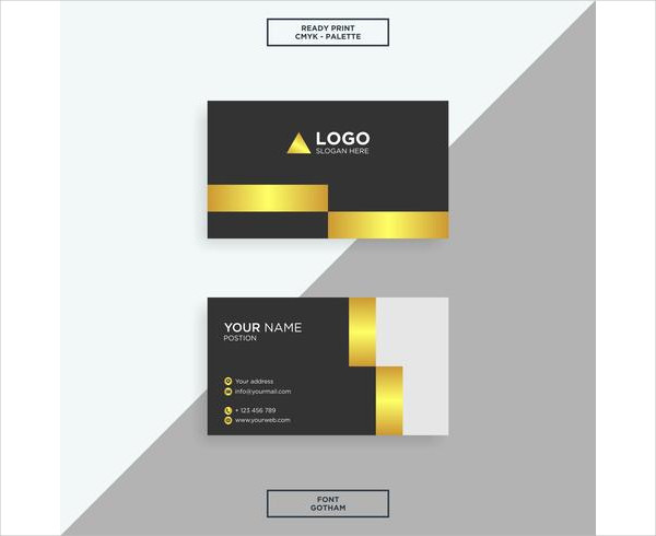 Business Card Gold Elegant Free Download