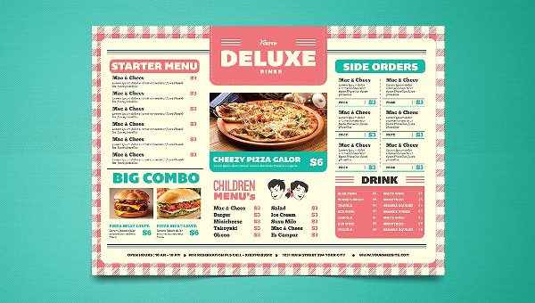 Cafe Menu Templates